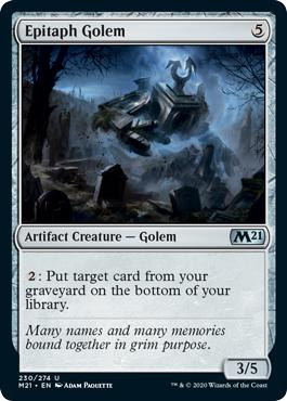 Epitaph Golem - Core Set 2021
